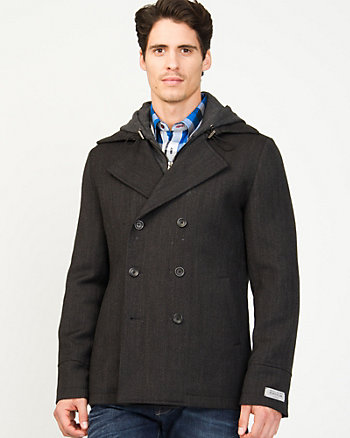 Twill Double Breasted Peacoat