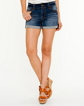 Denim Cuffed Shorts
