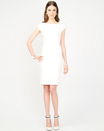 Ponte Knit Fitted Dress