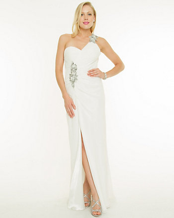 Chiffon One Shoulder Gown
