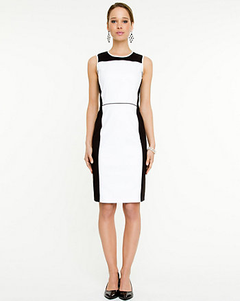 Tech Colour Block Shift Dress