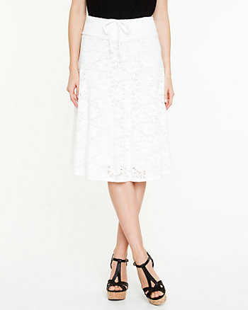Lace Semi-Flared Skirt