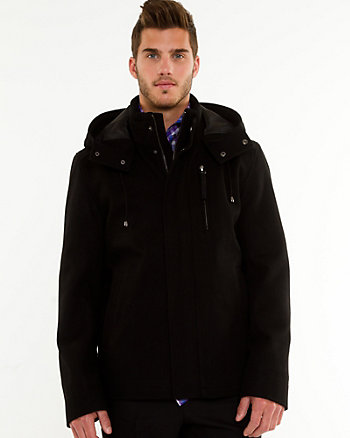 Melton Hooded Jacket
