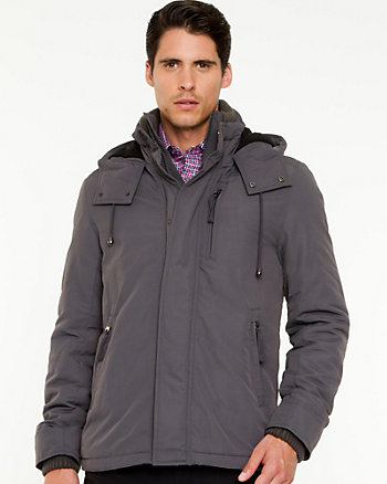 Coated Nylon Hooded Puffer