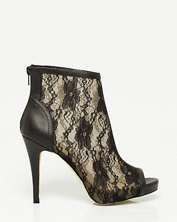 Lace Peep Toe Shootie