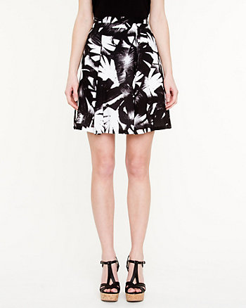 Tropical Print Fit & Flare Skirt