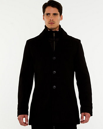 Wool Blend Melton Carcoat