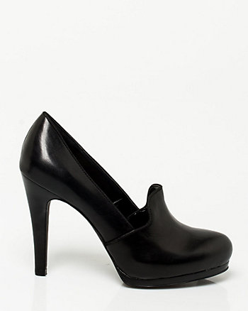 Leather Loafer Pump