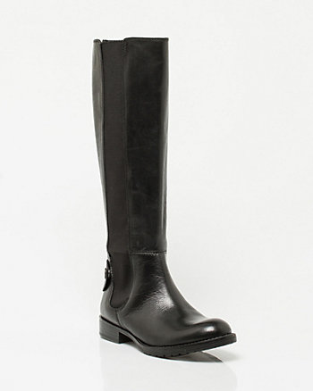 Leather Round-toe Boot