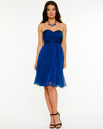 Iridescent Chiffon Sweetheart Dress
