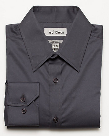 Stretch Sateen Slim Fit Shirt
