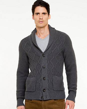 Cotton Shawl Collar Sweater