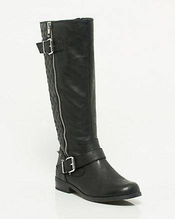 Leather-like Quilted Boot