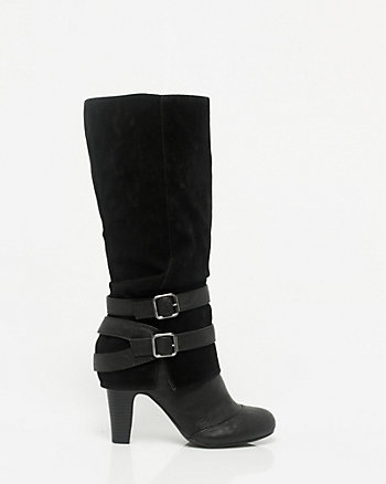 Suede-Like Round Toe Boot