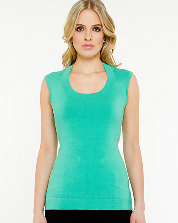 Scoop Neck Sleeveless Sweater