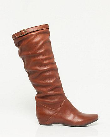 Italian Made Leather Knee-High Boot