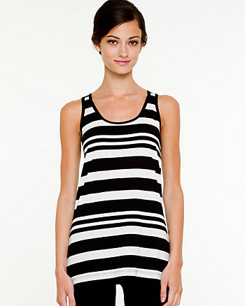 Stripe Knit Sleeveless Tank