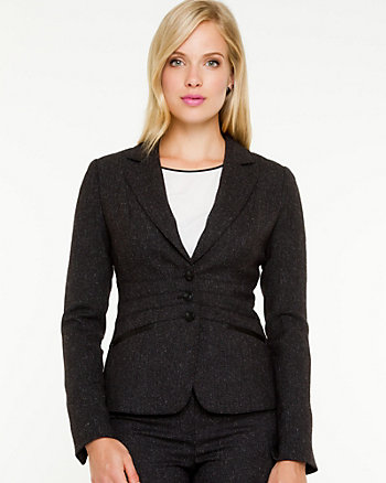 Stretch Donegal Notch Collar Blazer