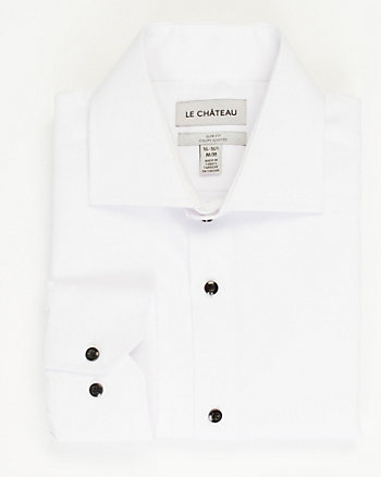 Cotton Blend Piqué Slim Fit Shirt