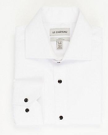 Cotton Blend Piqué Slim Fit Shirt