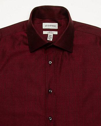 Stripe Cotton Slim Fit Shirt