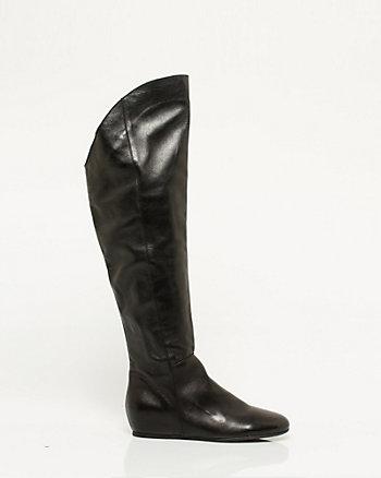 Italian Made Leather Knee High Boot