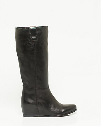 Italian Made Leather Knee-High Boot