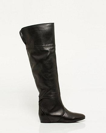 Italian Made Leather Foldover Boot