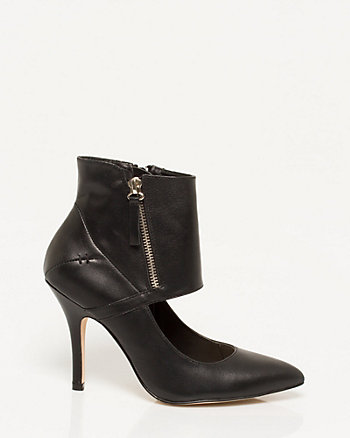 Leather-like Ankle Cuff Shootie