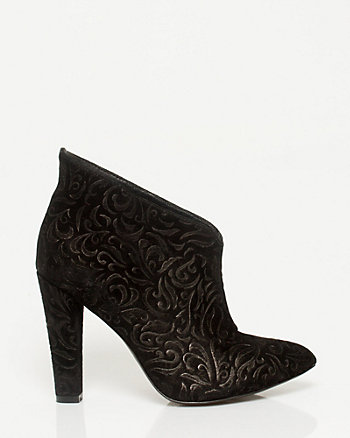 Embossed Suede Shootie