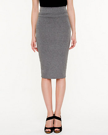 Jersey Knit Pencil Skirt