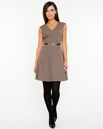 V-neck Flared Dress