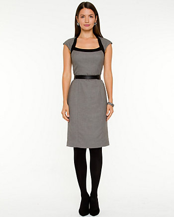 Tweed Scoop Neck Dress