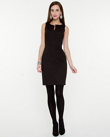 Stretch Jacquard Shift Dress