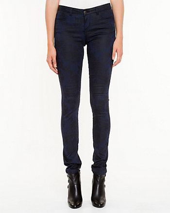 Floral Slim Leg Denim Pant