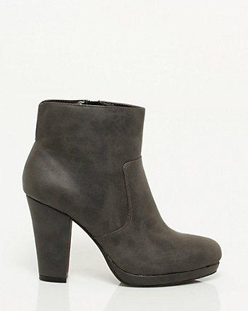 Leather-like Platform Bootie