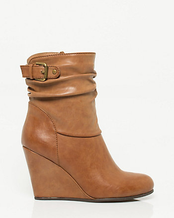 Leather-like Bootie