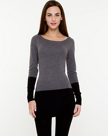 Angora Blend Colour Block Tunic