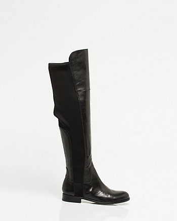 Leather Over-the-knee Riding Boot