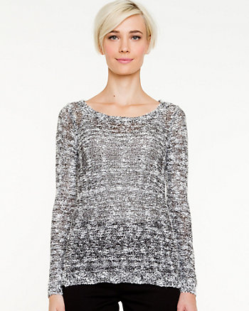 Sequin Boat Neck Sweater