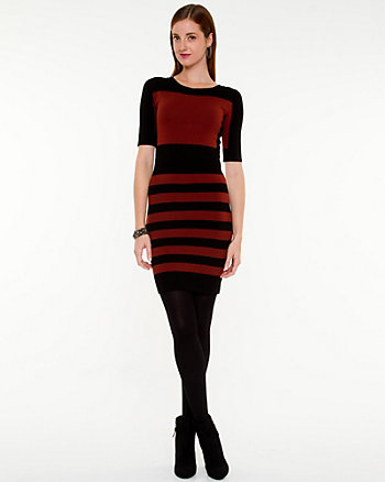 Stripe Boat Neck Dress