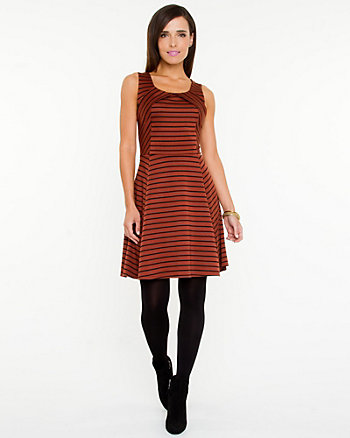 Ponte Knit Stripe Dress