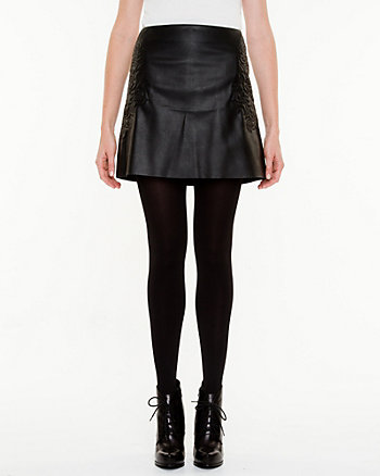 Leather-Like Mini Skirt