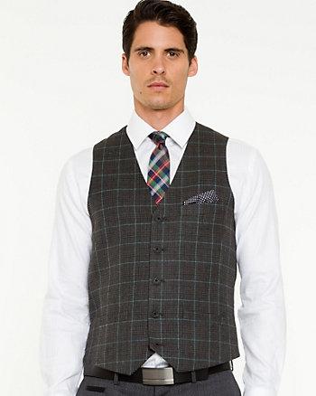 Check Print Contemporary Fit Vest
