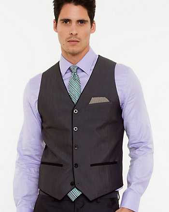 Tonal Pattern City Fit Vest