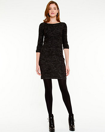 Boat Neck Knit Dress