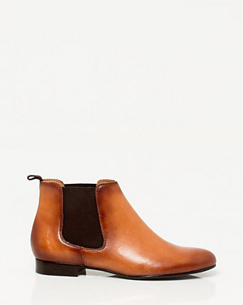 Italian Made Leather Chelsea Boot