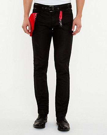 Coated Straight Leg Denim Pant