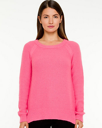 Angora Blend Scoop Neck Sweater
