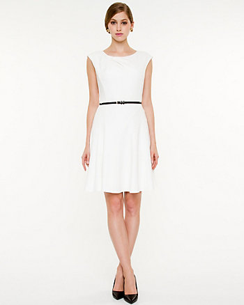 Ponte Fit and Flare Dress